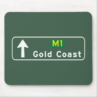 Gold Coast, Australia Road Sign Mouse Pad