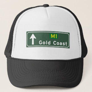 Gold Coast, Australia Road Sign Trucker Hat