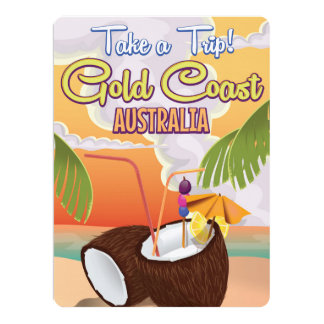 Gold Coast, Australia travel poster Card