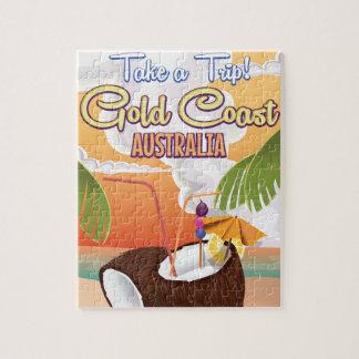 Gold Coast, Australia travel poster Jigsaw Puzzle