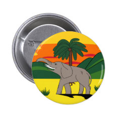 Gold Coast Elephant And Palm Tree Button Badge at Zazzle
