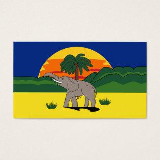 Gold Coast Elephant & Palm Tree Gift Tag Bookmark