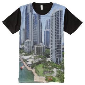 Gold Coast Queensland Skyline All-Over-Print T-Shirt