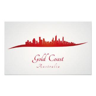 Gold Coast skyline in red Fotografía