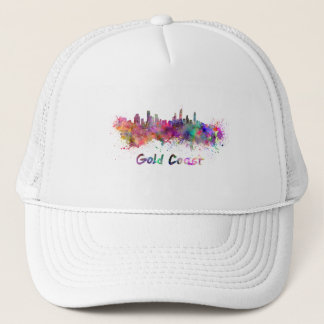 Gold Coast skyline in watercolor Trucker Hat