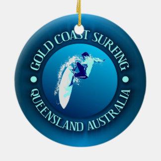 Gold Coast Surfing Ceramic Ornament