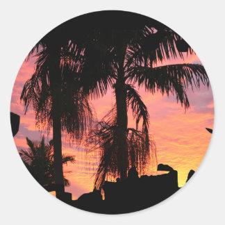Gold Coast Surise Classic Round Sticker