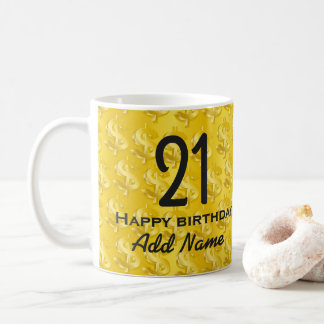 $ Gold $ Coffee Mug