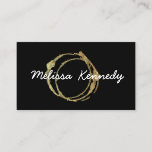 Coffee business cards zazzle gold coffee shop business cards cup stains black colourmoves