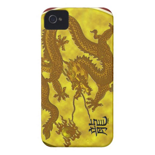 Gold Coin Dragon iPhone 4 Case