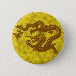 Gold Coin Dragon Pinback Button