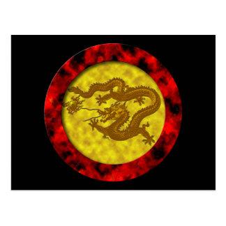 Gold Coin Dragon Postcards
