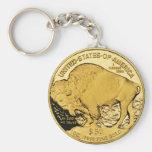 Gold Coin Keychain