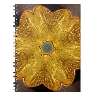 Gold coin notebook