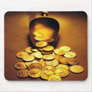 Gold Coin Pour Mouse Pad