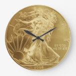 Gold Coin Wall Clock