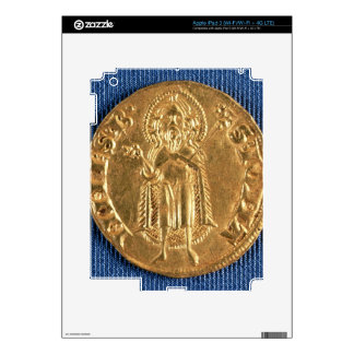 Gold coin, with St. John the Baptist, 16th century iPad 3 Decals