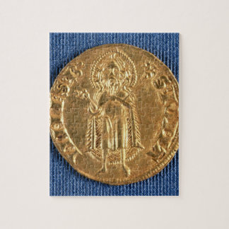 Gold coin, with St. John the Baptist, 16th century Jigsaw Puzzle