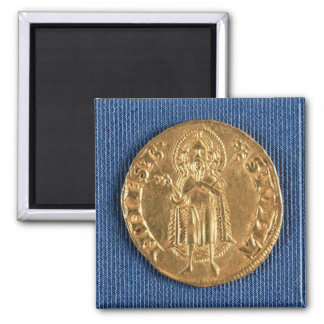 Gold coin, with St. John the Baptist, 16th century Magnet