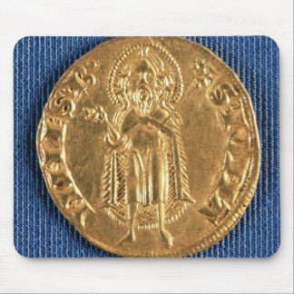 Gold coin, with St. John the Baptist, 16th century Mouse Pad
