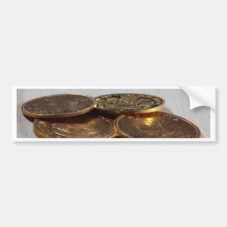 Gold Coins Bumper Sticker