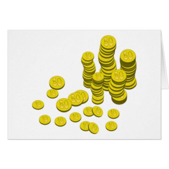 Gold Coins Card