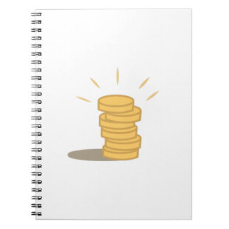 Gold Coins Spiral Note Books