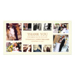 GOLD COLLAGE | WEDDING THANK YOU CARD PHOTO CARD
