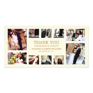 GOLD COLLAGE | WEDDING THANK YOU CARD PICTURE CARD
