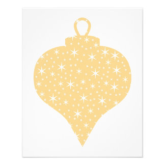 Gold Color Christmas Bauble Design. Flyer