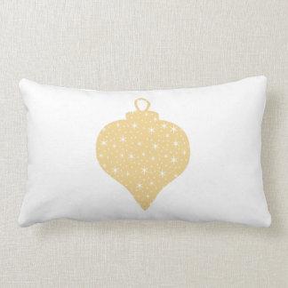 Gold Color Christmas Bauble Design. Lumbar Pillow
