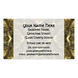 Gold color glass pattern effect business cards