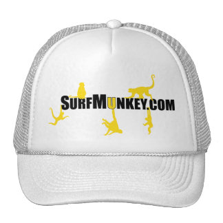Gold color munkeys in the Hanging Munkeys design Trucker Hat