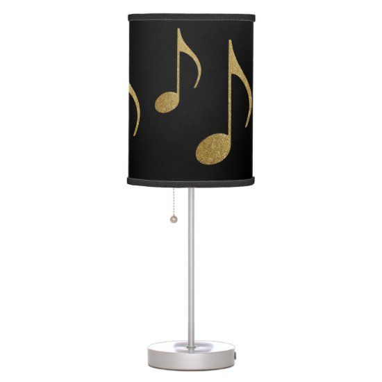 gold color musical notes table lamp