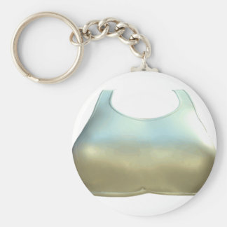 Gold Color Sport Bra Graphic Keychain