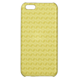 Gold Colored 3D cubes cascading Case For iPhone 5C