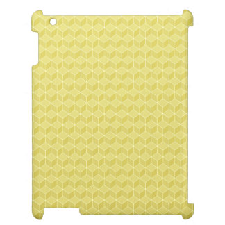 Gold Colored 3D cubes cascading iPad Cases