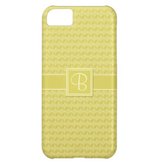 Gold Colored 3D cubes cascading iPhone 5C Cover