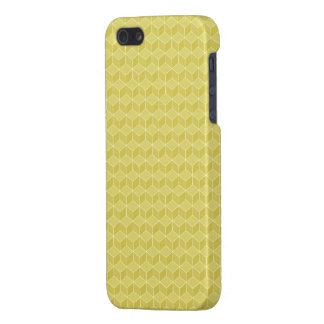Gold Colored 3D cubes cascading iPhone SE/5/5s Cover