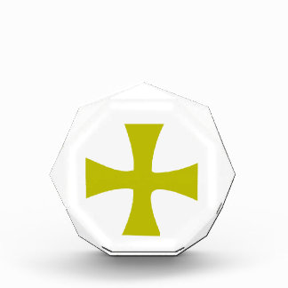 Gold Colored Byzantine Cross Acrylic Award