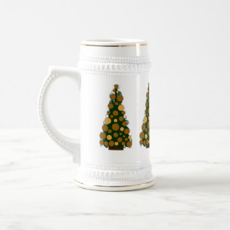 Gold Colored Christmas Tree Stein