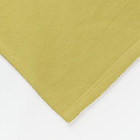 Gold-Colored Fleece Blanket