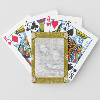Gold Colored Frame Bicycle Playing Cards