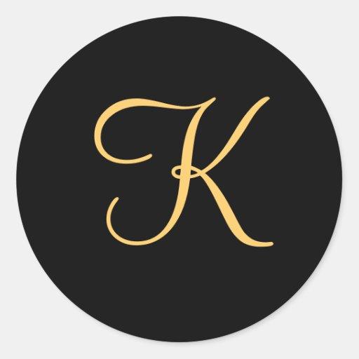Gold_colored_initial_k_on_black_monogram_sticker 217767908253785125 on Www Letter K Craft