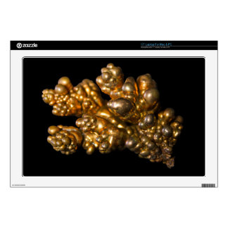 """Gold Colored Mineral 17"""" Laptop Decals"""
