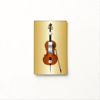 Gold Coloured Cello Light Switch Cover