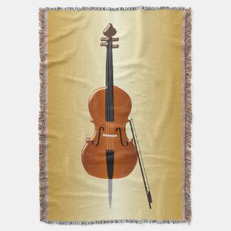 Gold Coloured Cello Throw Blanket
