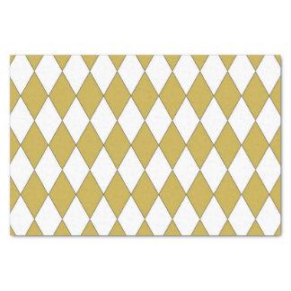 "Gold Coloured Diamond Design 10"" X 15"" Tissue Paper"