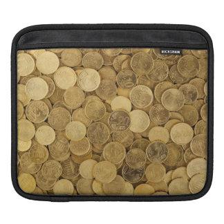 Gold Coloured Euro Coins iPad Sleeve