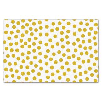Gold Coloured Polka Dots Tissue Paper